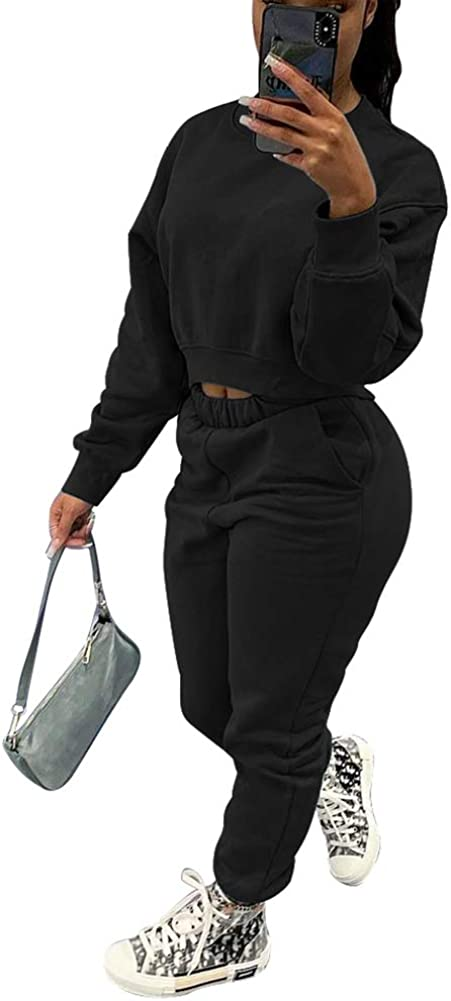 bluewolfsea Womens 5 popular Sweatsuits Sets 2 Piece Max 66% OFF Sl Outfits Solid Long