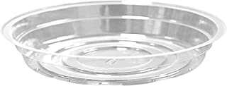 TRUEDAYS 8 Inch 5 Pack Clear Plant Saucers Flower Pot Tray Excellent for Indoor & Outdoor Plants