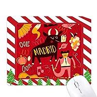 マドリードのスペインの闘牛ミュージックフェスタ ゴムクリスマスキャンディマウスパッド