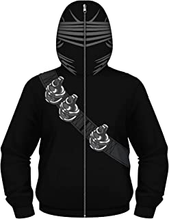 Boys 3D Digital Print Pullover Hoodie Casual G.I.Joe Snake Eyes Costumes Sweashirt Jacket with Pockets