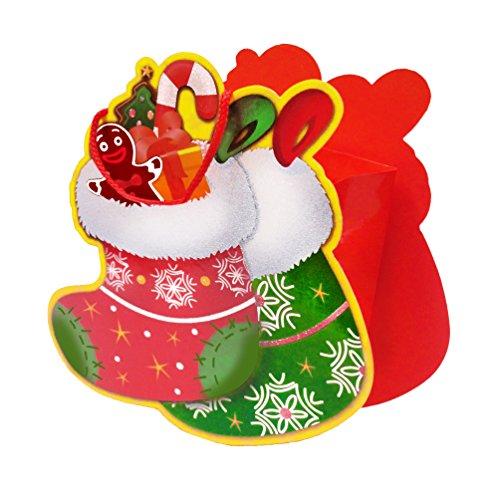 Susy Card 11387339 geschenktasje, papier, motief X-mas boot, 15 x 18 x 8 cm, 1 stuks, gelamineerde glanzende folie