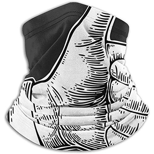 BGDFN Símbolo que muestra la mano Como hacer el pulgar hacia arriba Gesto Diadema Máscara facial Bandana Envoltura de la cabeza Bufanda Cuello Calentador Sombreros Pasamontañas