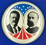 Presidential Campaign 1904 Nrepublican Campaign Button From The 1904 Presidential Election Featuring Theodore Roosevelt And Charles Warren Fairbanks Poster Print by (18 x 24)