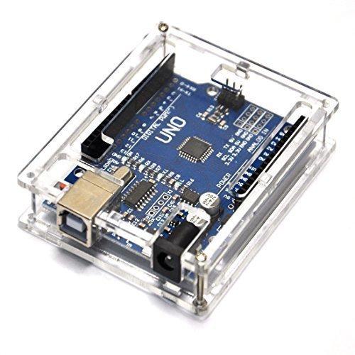 Uno R3 Case Enclosure New Transparent Clear Computer Box Compatible with Arduino UNO R3