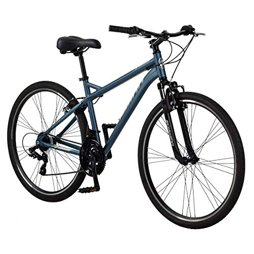 Schwinn Network 1.5 Womens Hybrid Bike, 700c Wheels, 21-Speed, 15-inch Frame, Alloy Linear Pull Brakes, Matte Blue
