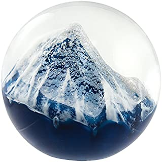 Glass Eye Studio Glacier Blown Glass Paperweight