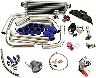 90-96 Accord Prelude Complete T3 Turbo Kit F22/F23/H23 Even Port 0-0-0-0 Engine