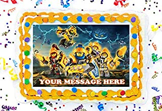 Nexo Knights Cake Topper Edible Image Personalized Cupcakes Frosting Sugar Sheet (8