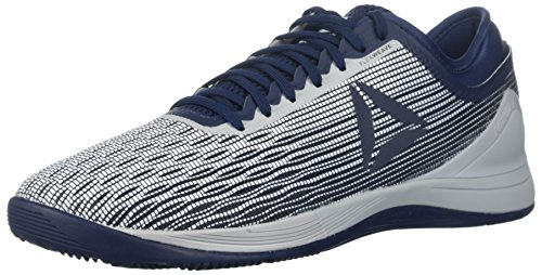Reebok Men's CrossFit Nano 8.0 Flexweave Cross Trainer, White/Coll. Navy/Stark Grey, 10.5 M US