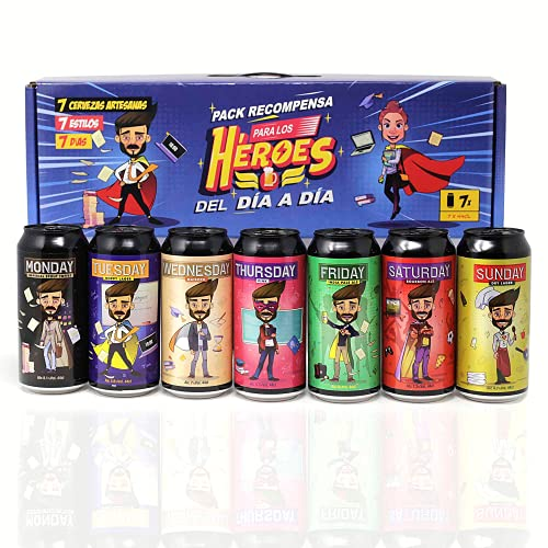 Pack Recompensa. 7 cervezas artesanas, 7 estilos, 7 días. Para los héroes del día a día