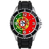 Timest - Bandera de Portugal - Unisex Reloj con Correa de Silicona Negro Analógico Cuarzo SE0506