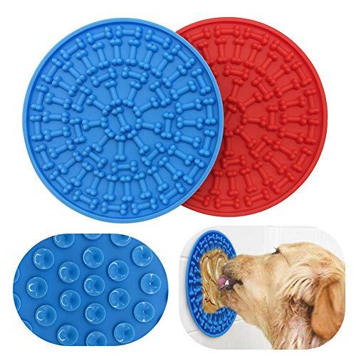 Ganmaov - Protector de Silicona para Perros con función de súper succión para Perros de baño y Cuidado, Dispositivo Duradero para la alimentación Lenta de Perros, facilita la Ducha Lovely