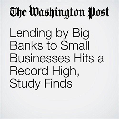 Lending by Big Banks to Small Businesses Hits a Record High, Study Finds copertina