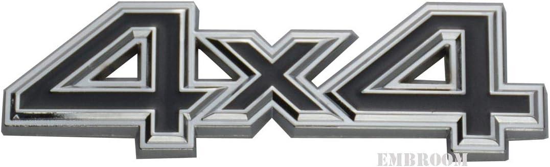 EmbRoom 4X4 Four-Wheel Drive Emblem, 3D Metal Car Side Fender Re