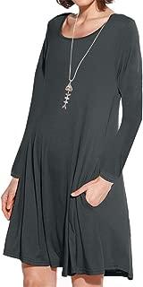 Women's Pockets Short Sleeve Casual Swing Loose Dress