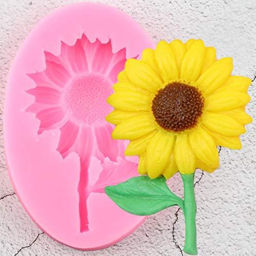 SKJH Sonnenblumenkern Silikonform Blumenkuchen Kuchen Topper Fudge Kuchen Dekorationswerkzeug Keks Backen Candy Clay Schokolade Füllform