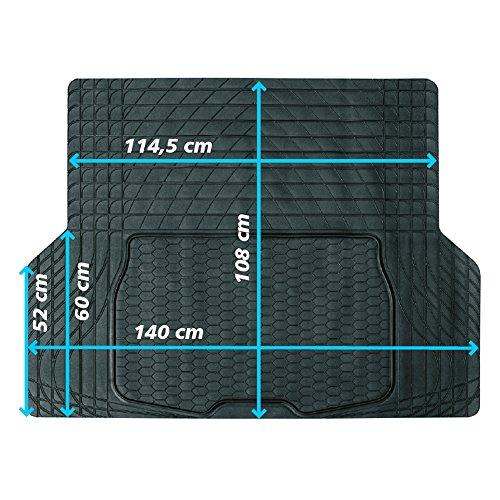 JOM 20695 Kofferraummatte,Gummimatte 140 x 108 cm universal zuschneidbar Kofferraumschutz