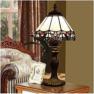DSDD Lampe Tiffany Lampe de Table Vintage Élégant Lampe de Table Tiffany Lampe de Bureau en Verre teinté Lampe de Table de...