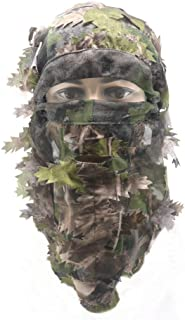 EAmber Ghillie Camouflage Leafy Hat 3D Full Face Mask...