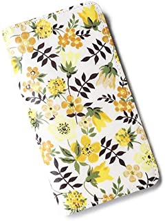 iPhone XS iPhone X ケース手帳型 リバティ エデナム (イエロー) SHOKO MIYAMOTO おしゃれ かわいい マグネット無しでカード安全 スマホケース アイフォンケース Liberty
