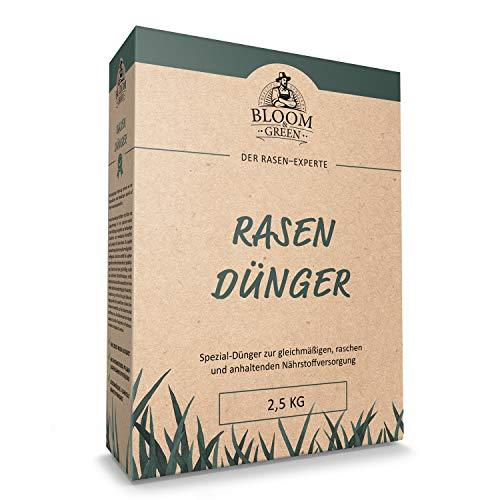NPK Spezial-Rasendünger Bloom & Green I NPK Rasen-Dünger mit Magnesium & Schwefel für Rasen & Gehölz I Organisch-Mineralischer Dünger für Rasen- und Gartenpflege I 2,5 kg für 70m²