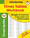 Times Tables Workbook: Ideal for Home Learning - Timed Tests - Multiplication Math Drills -100 Practice Pages - KS2 Workbook - (Ages 7-11)
