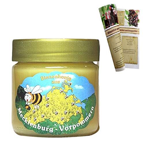 Kornblumenhonig 1 x 500g | Deutsche Herkunft - Mecklenburg | reiner Honig - direkt vom Imker keine Massenware mit Rezeptheft