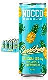 NOCCO BCAA Caribbean 24 latas x 330ml Bebida energética funcional sin azúcar No Carbs Company Enriquecida con vitaminas Con cafeína Bebidas para deportistas