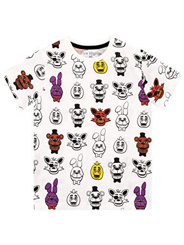 Five Nights at Freddy'S - Camiseta para niño - Five Nights at Freddy'S - 9-10 Años
