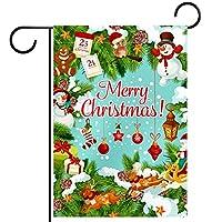 ホームガーデンフラッグ両面春夏庭屋外装飾 12x18INCH,メリークリスマス冬