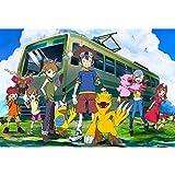 puzzles Rompecabezas De Madera 1000 Digimon Anime Juguetes Educativos De Descompresión De Regalo Creativo para Niños Adultos para Niños Y Niñas(Color:UNA)