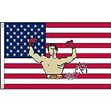 AZ FLAG Flagge USA MIT Rocky Balboa 150x90cm - VEREINIGTEN Staaten VON Amerika Fahne 90 x 150 cm - flaggen Top Qualität