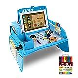 XtraCare Knietablett Kinder Knietablett, Reisetisch Kinder Reisetablett, Multifunktional Einstellbar Esstisch, Spieltisch für Autositz, mit 1 Laptoptasche und 8 Farbstifte Knietablett
