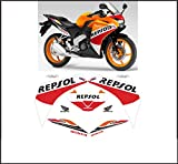 GRAPHICSMOTO h434 Kit adesivi decal stickers HONDA CBR 125 R 2015 REPSOL (ability to customize the colors)