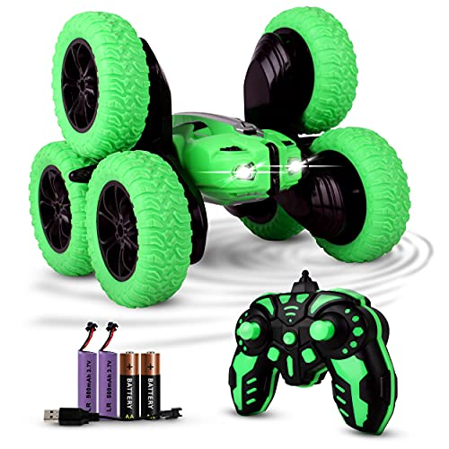 SHERPALACE 6 Wheeler Remote Control Rolling Stunt Car- for Kids Adults Boys & Girls- Gift  Race Stunt Car Toy- Fast rc Drift car with Crawler Tires- 20 km/hr Speed- 2 Batteries- 55+ Mins of Play Time