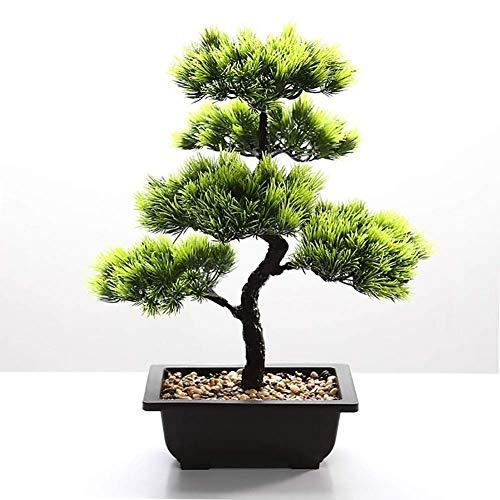 MKXF Oficina en casa Bonsai Pino, Planta Grande Que da la Bienvenida a Pino, simulación en Maceta, bonsái, Simplicidad Creativa Interior, decoración de Plantas Verdes Artificiales