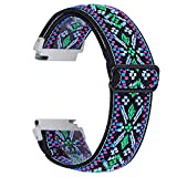 Chofit-Cinturino compatibile con Garmin Venu Sq/Amazfit Bip U Pro/Amazfit GTS 2e/Samsung Galaxy Watch 3 41 mm, cinturino elastico in nylon intrecciato floreale cinturino di ricambio 20 mm sport (#19)