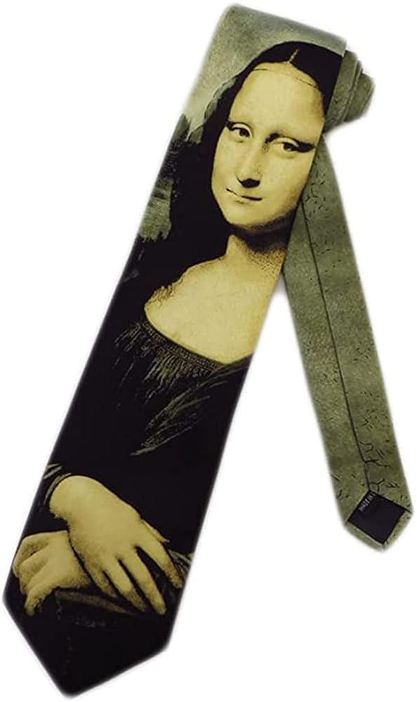 Mona Lisa service tie Choice by Leonardo Three da Rooker Vinci neckties