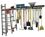 Holeyrail, Garage Organizer, Four Foot kit Garage Storage System, Commercial Quality, Industrial Strength, Includes Hooks for Hanging Tools
