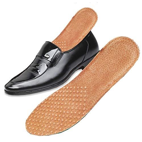 GZSC Plantilla Ortesis de Cuero de Piel de Cerdo Plantilla for Soporte de Arco de pie Plano Plantillas Deportivas ortopédicas for Hombres y Mujeres Zapatos (Color : As Shown, Shoe Size : S EU