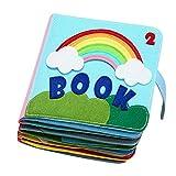 FITYLE Mi Libro silencioso, Libro de Tela Suave de Fieltro, Tacto y Tacto, Actividad de Tela de Libros en 3D para bebés/niños pequeños, Libro de Aprendizaje