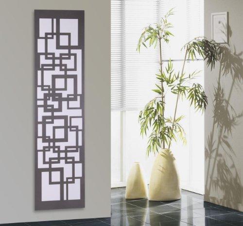 Badheizkörper Design Quadrat 3, HxB: 180 x 47 cm, 1118 Watt, weiß/moonstone-grau (metallic) (Marke: Szagato) Made in Germany/Bad und Wohnraum-Heizkörper (Mittelanschluss)