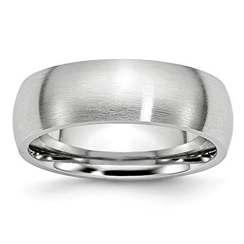 Diamond2Deal Alianza de boda de satén de cobalto de 7 mm