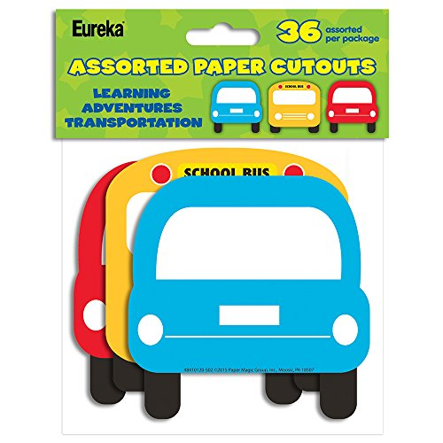 Eureka Learning Adventures Transportation Asst. Paper Cut Outs (841012)