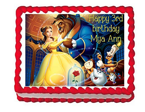 Beauty and The Beast Edible Cake Image Cake Topper