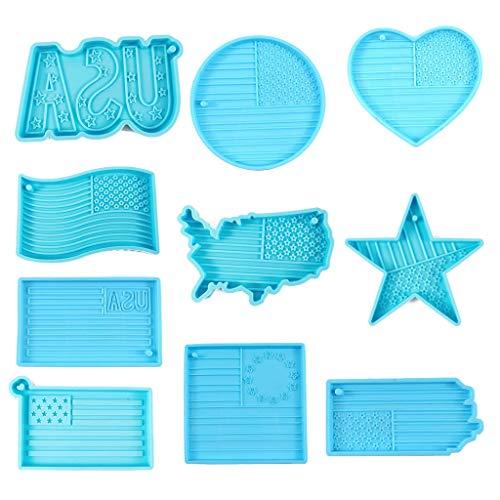 Silikon-Formen mit USA-Flagge, 10 Stück
