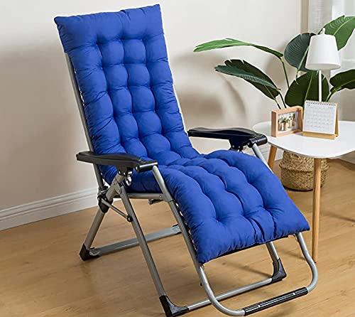 XCTLZG Almohadilla antideslizante para tumbona con cubierta superior de fijación, sillón reclinable para jardín, patio, oficina, respaldo alto, cojín de banco ultra cómodo y duradero