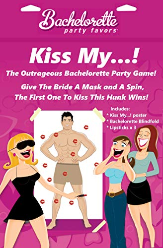 Kiss My Bachelorette Party Poster Game