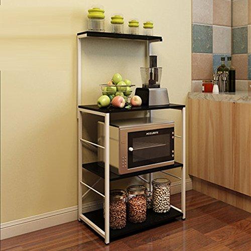 Peaceip Racks de Rangement Multi - étages Creative Kitchen (Couleur : Noir)