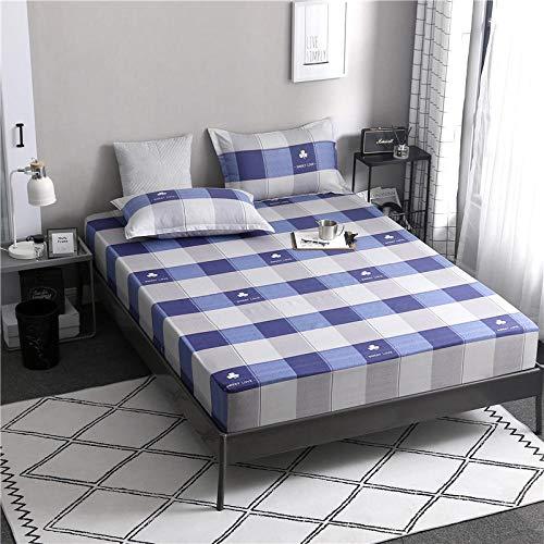 CYYyang colchón Acolchado, antialérgico antiácaros, Una Sola Pieza de sábana lijada-11_180cmx220cm